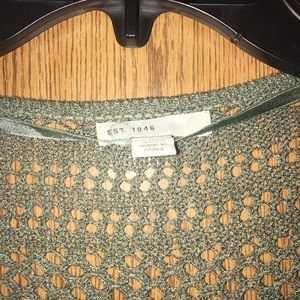 est 1946 Jackets & Coats - New Never worn  green crochet long cover up jacket